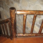 Hand crafted stairs railing